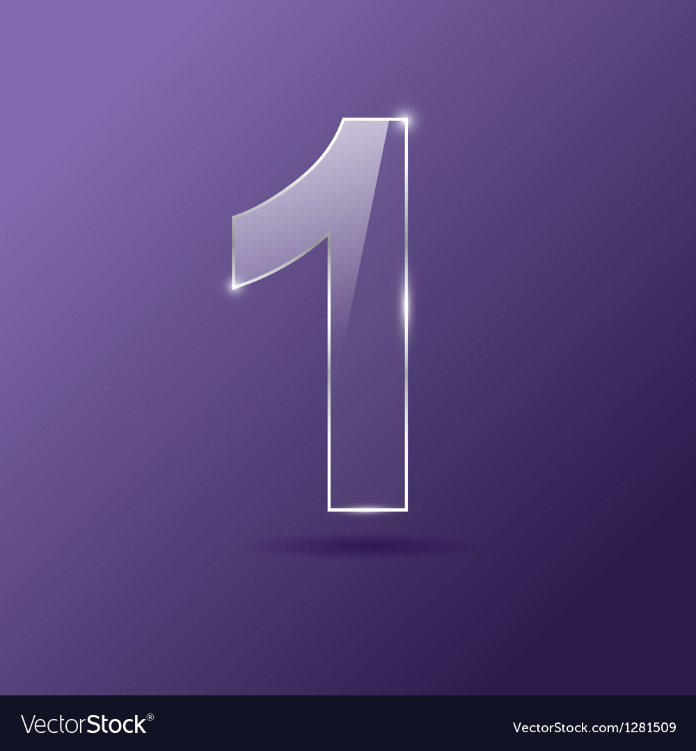 Glass number 1 vector image