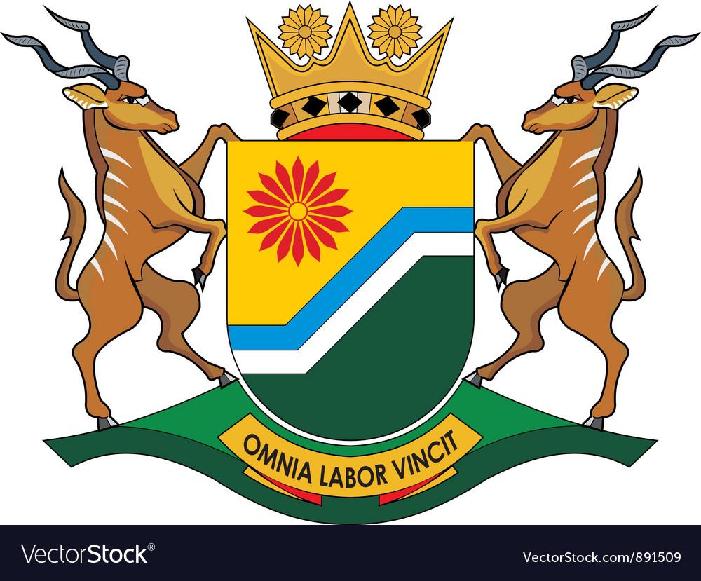 Mpumalanga Province vector image