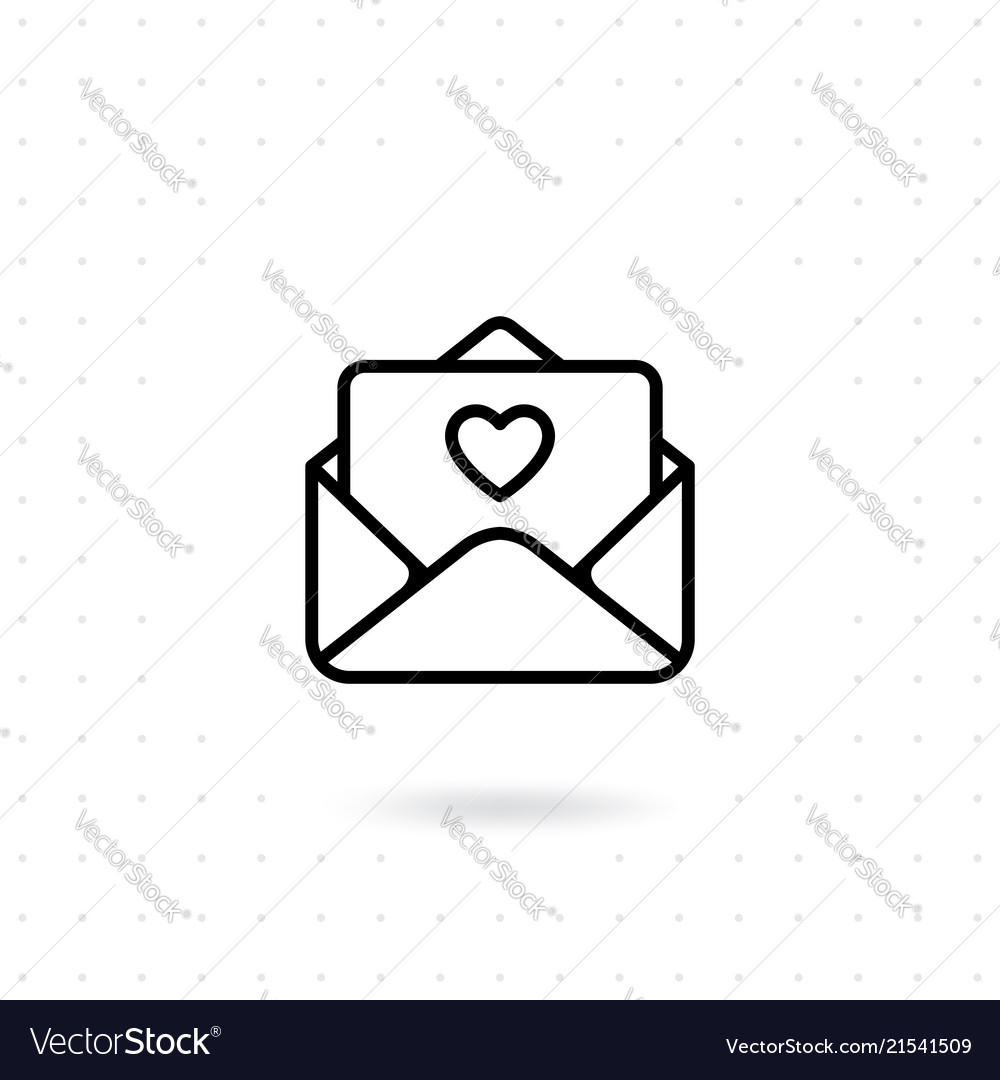 Open a love letter icon