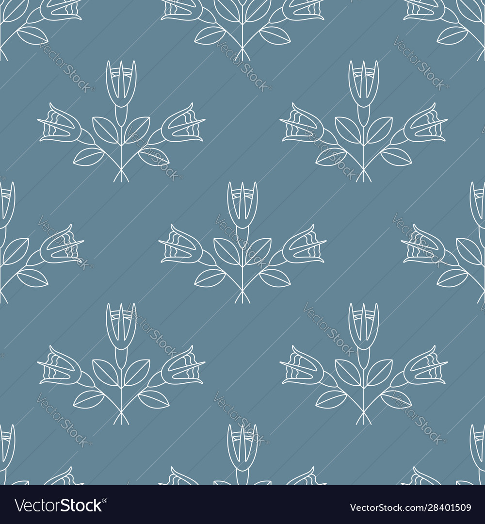 Seamless pattern with bouquets three white rose