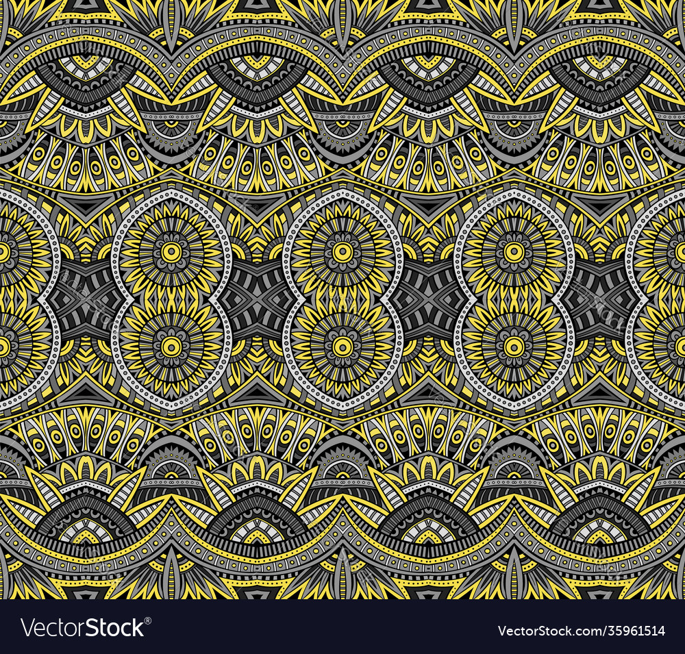 Abstract ethnic vintage yellow and grey background