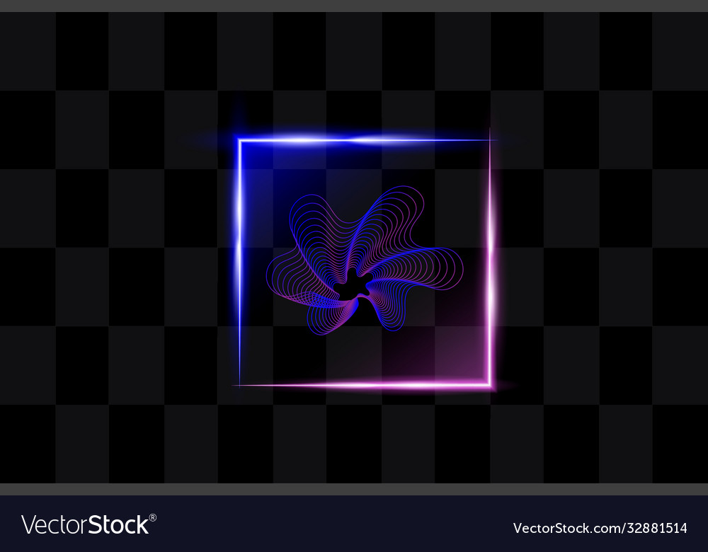 Abstract square light background
