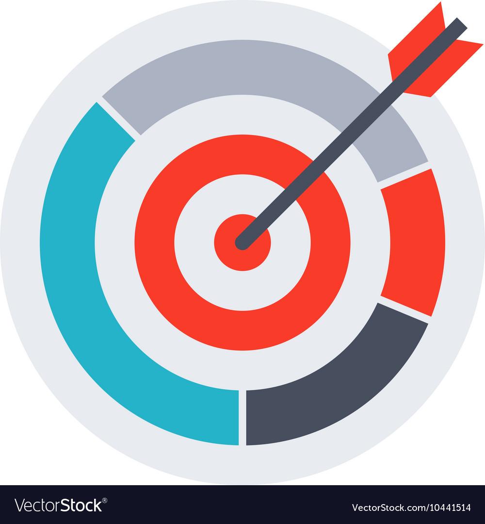 Arrow In Archery Target Royalty Free Vector Image