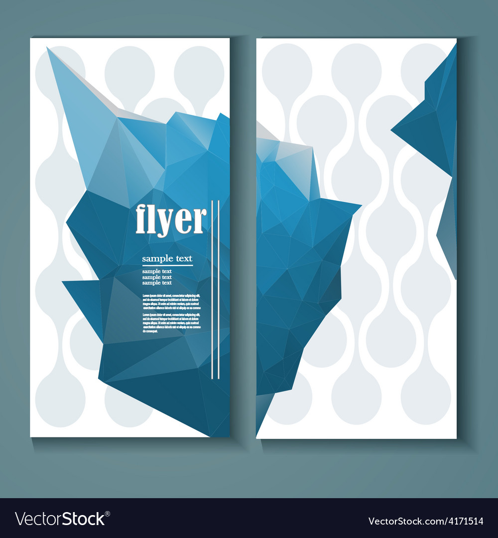 Flyer with a polygonal pattern