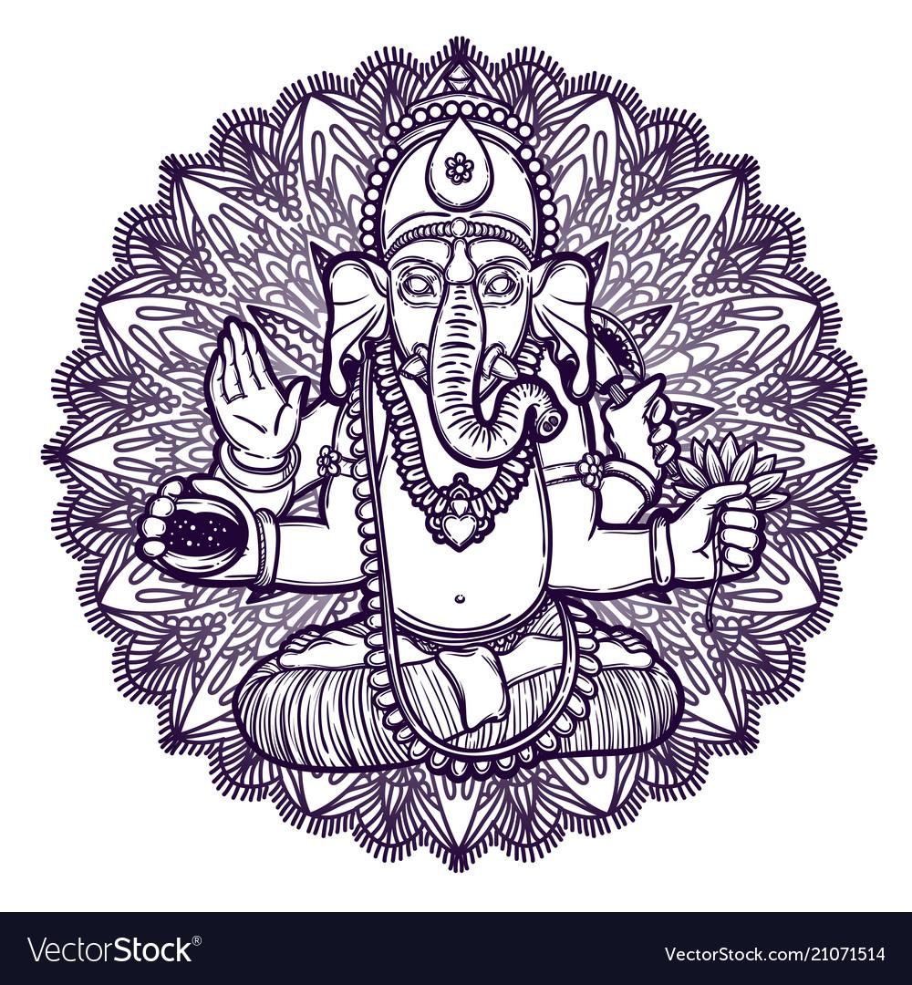 Ganesha hindu god elephant