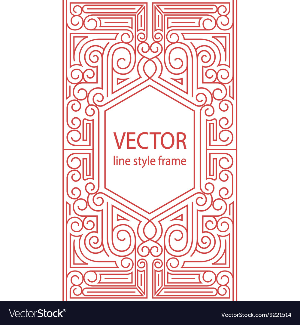 geometric linear style frame art deco royalty free vector rh vectorstock com art deco vector border art deco vector pack download