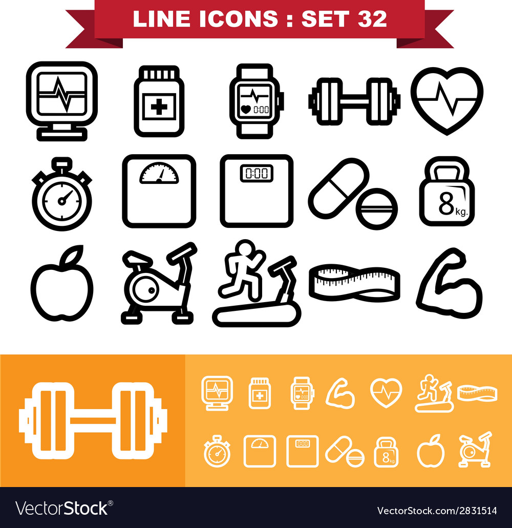 Line icons set 32