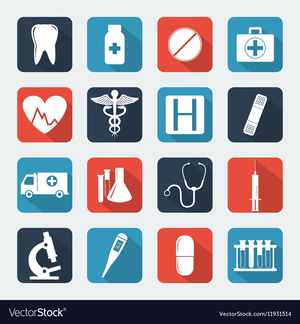Medical icons set Healthcare icons