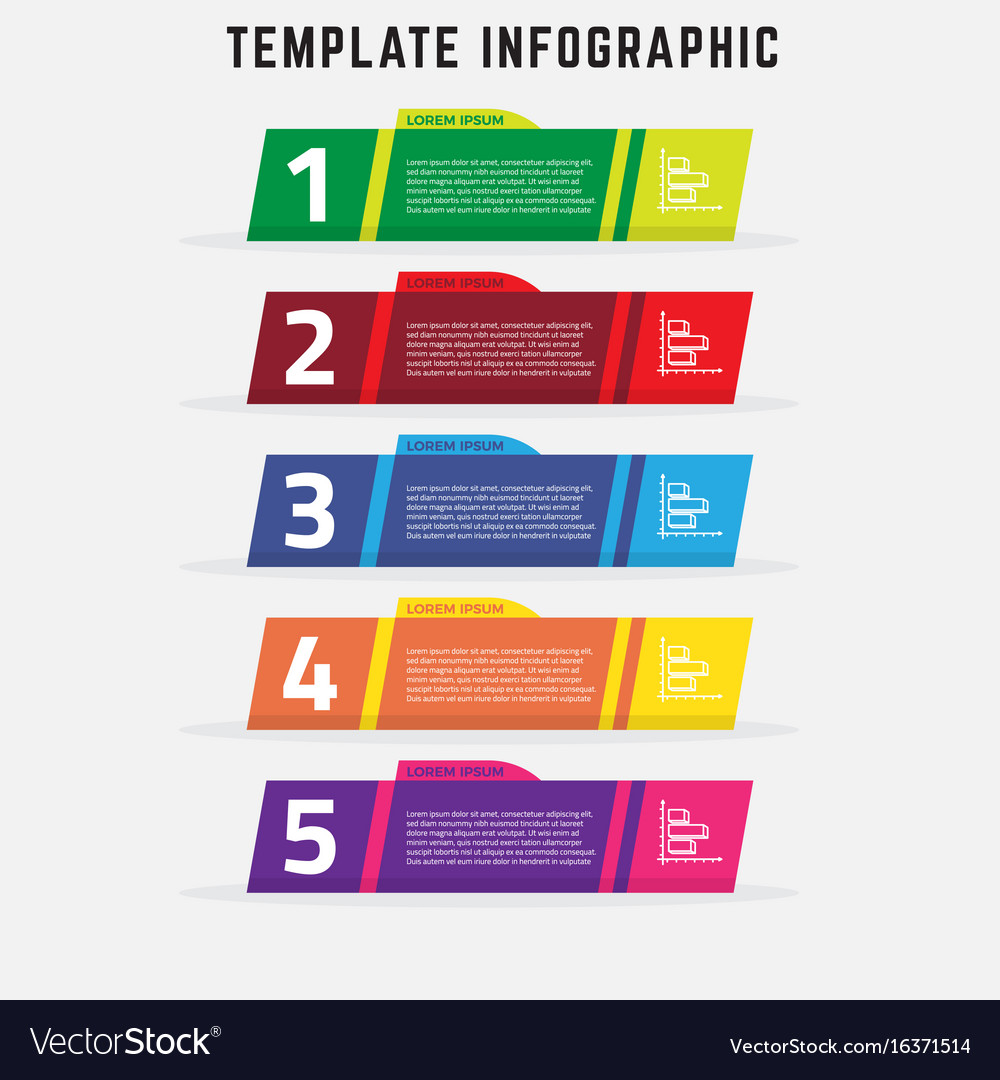 Modern infographic template that can be used for d vector image