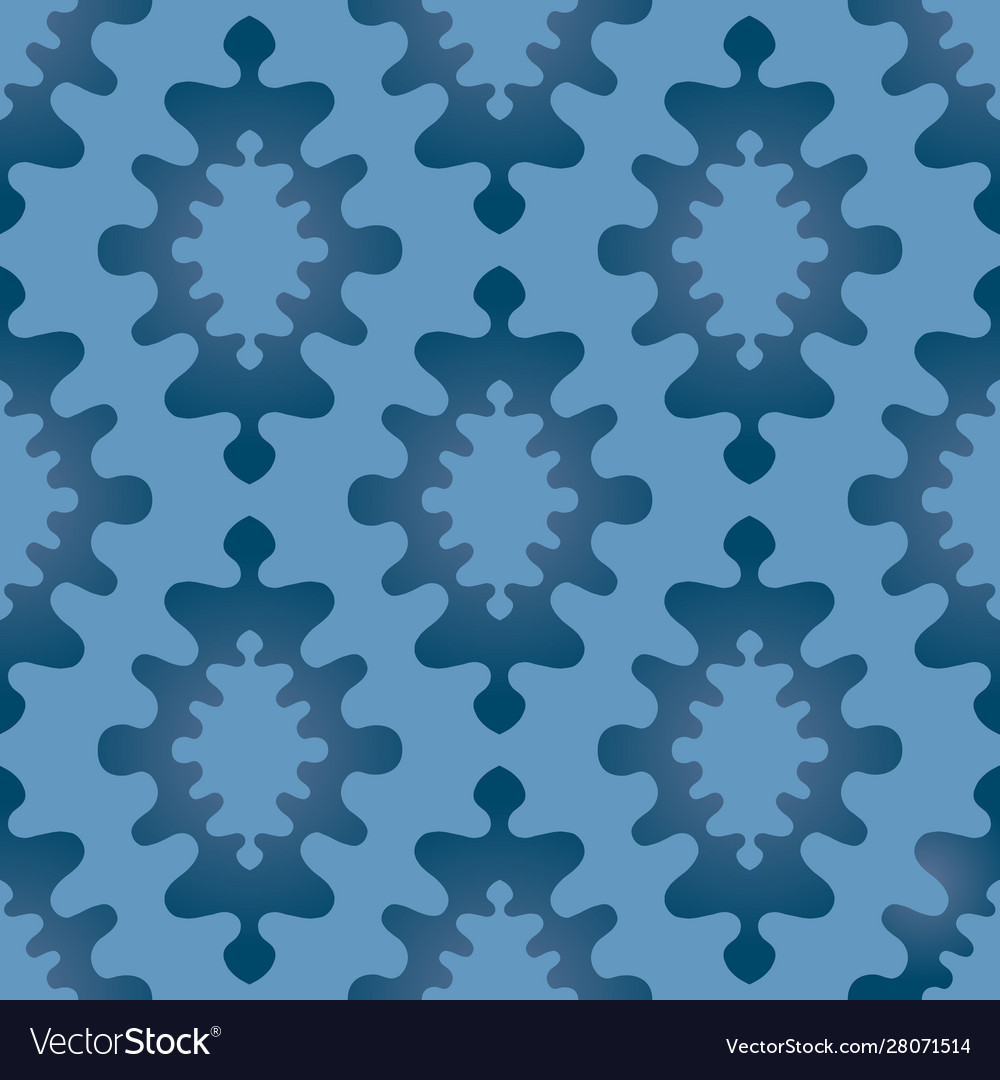 Oriental abstract ornament seamless pattern blue