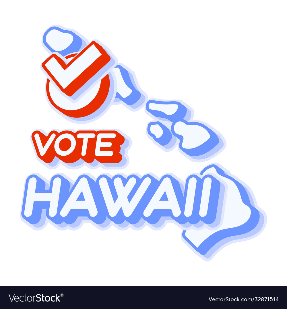 Presidential vote in hawaii usa 2020 state map