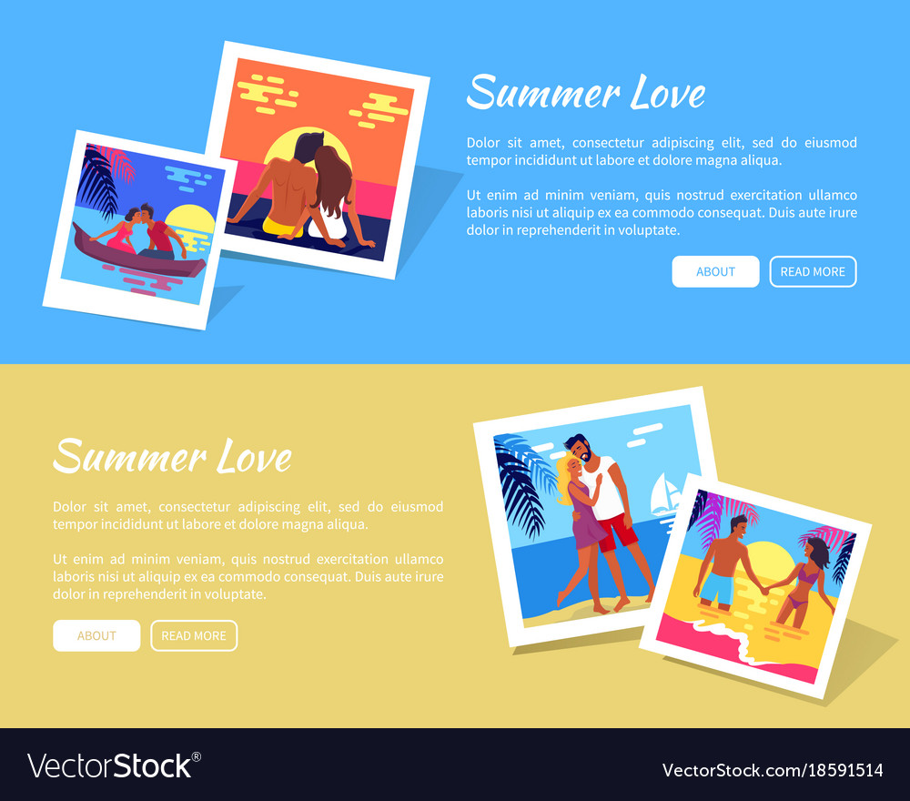 Summer love photos near text