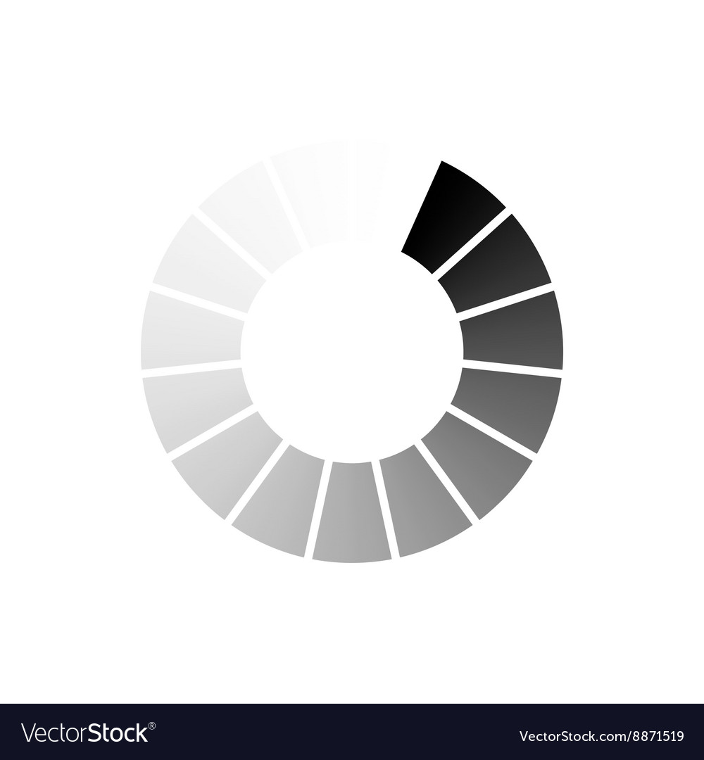 Abstract geometric circle of segments icon vector image