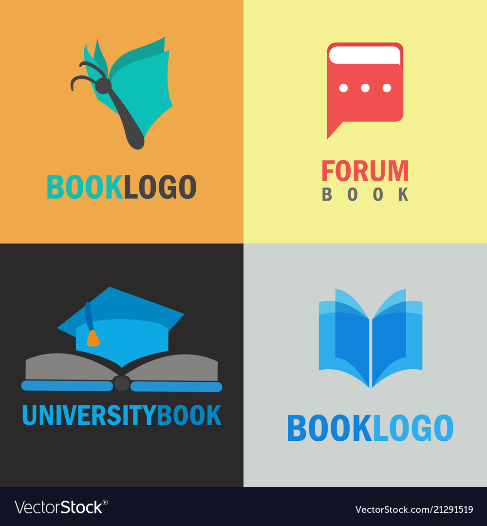 Book logo set
