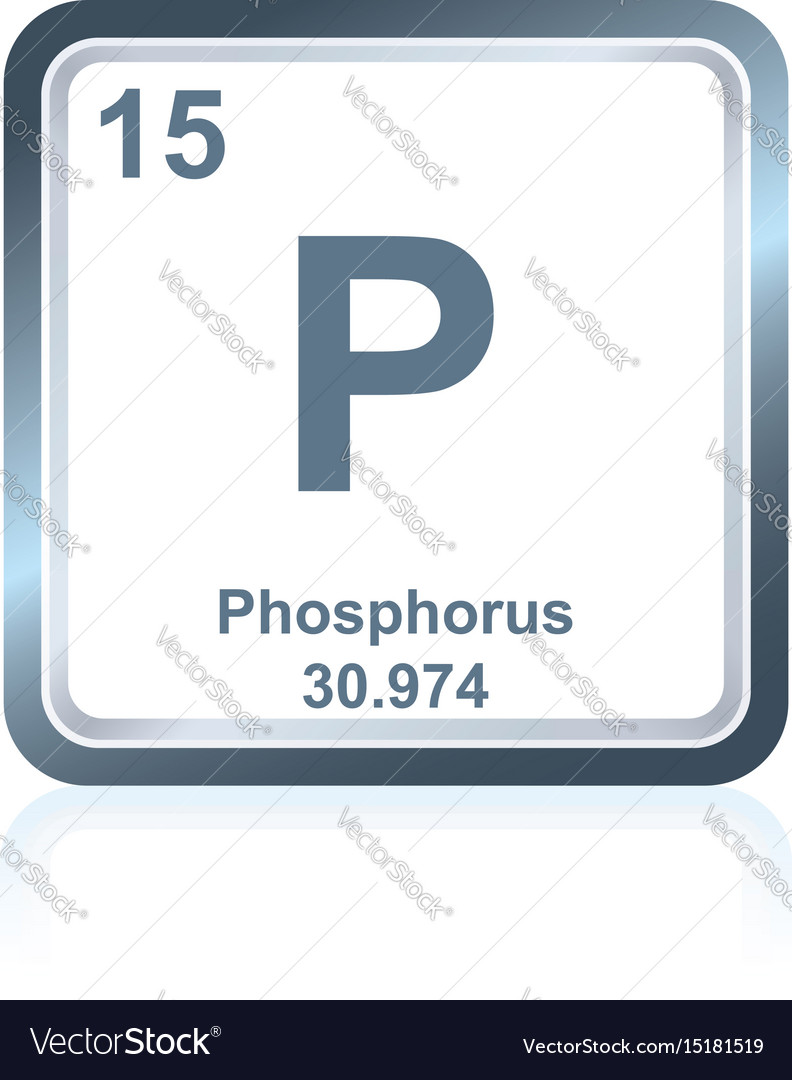 Chemical Element Phosphorus From Periodic Table Vector Image