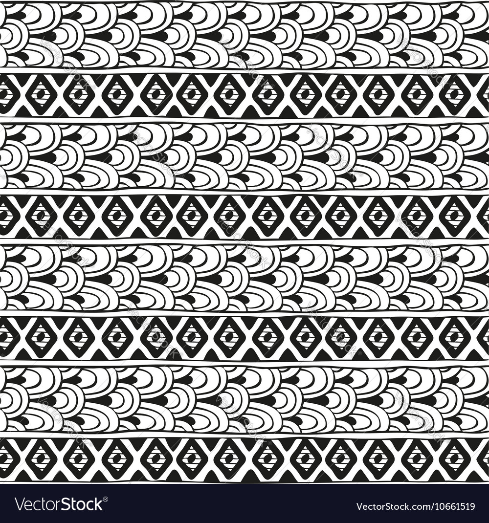 Ethnic geometric pattern of diamonds and vector image