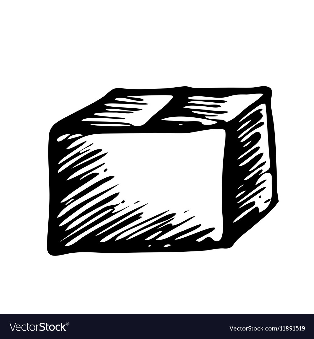 hand drawn box isolated on white background vector image