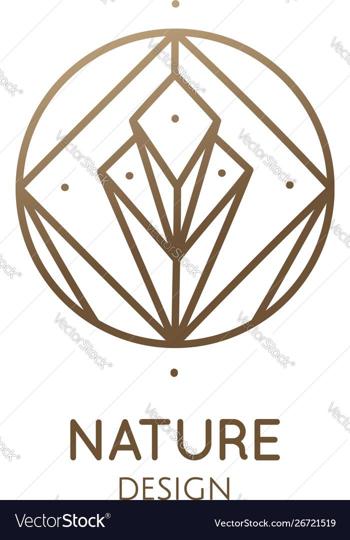 Linear abstract logo diamond