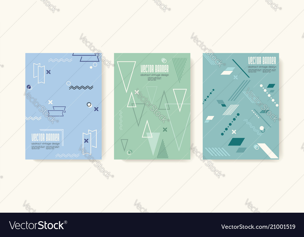 Retro design templates for a4 covers in 80s