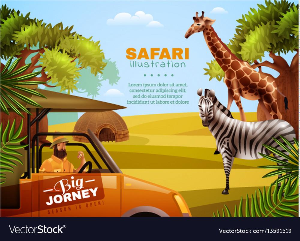 Safari colored poster