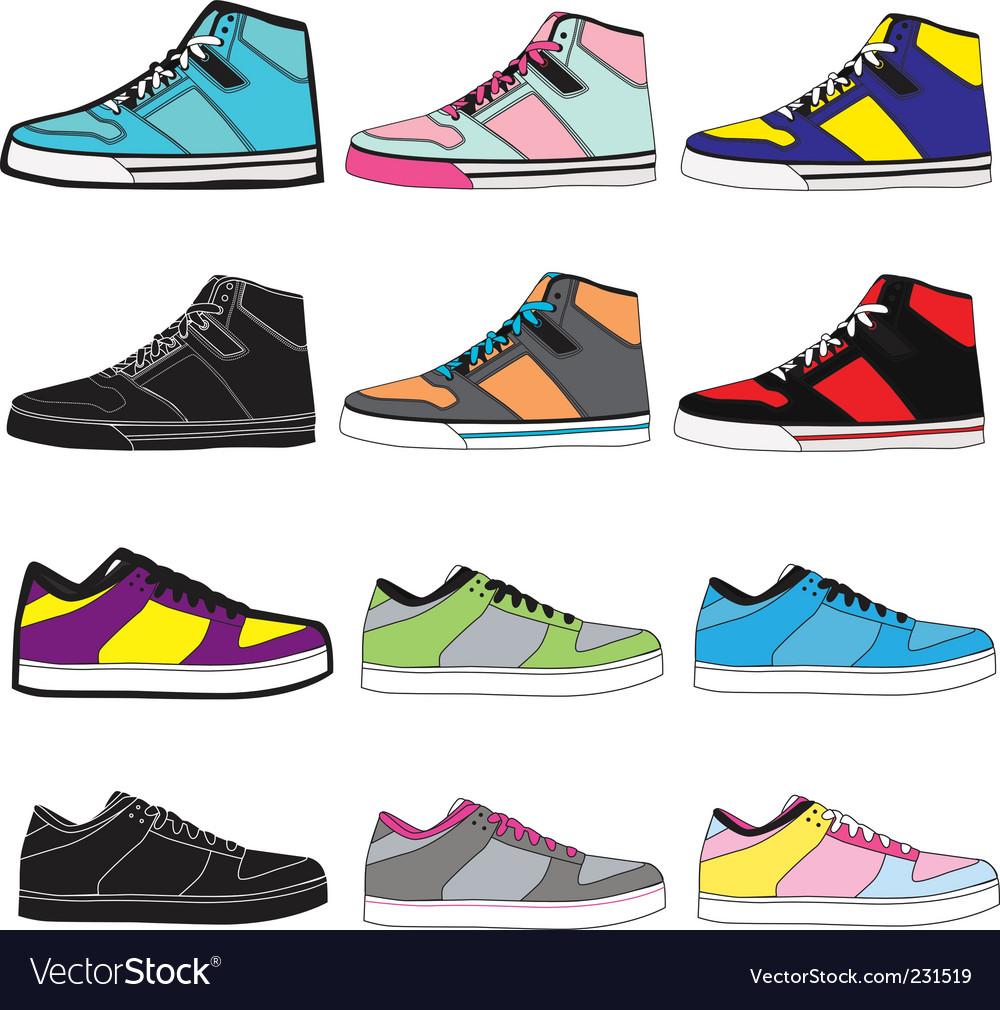 Sneakers set illustration