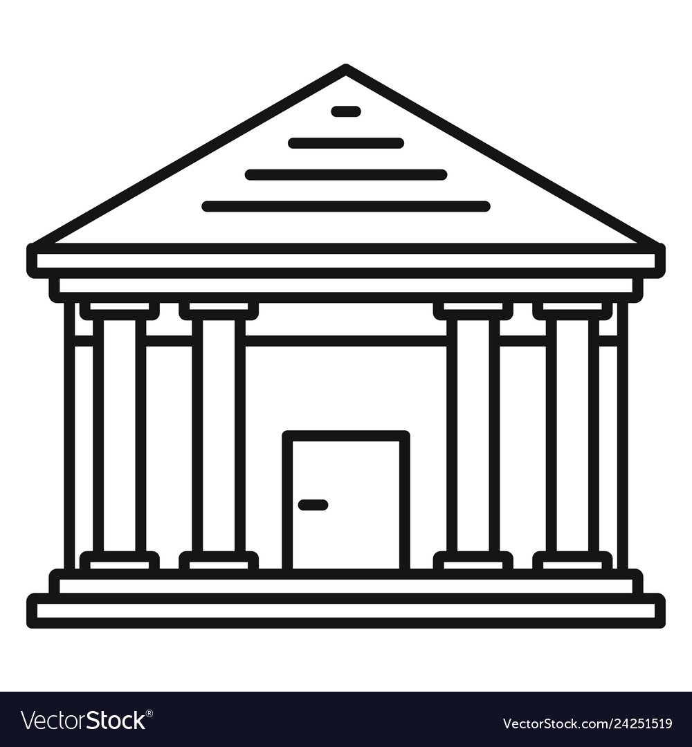 Stone courthouse icon outline style