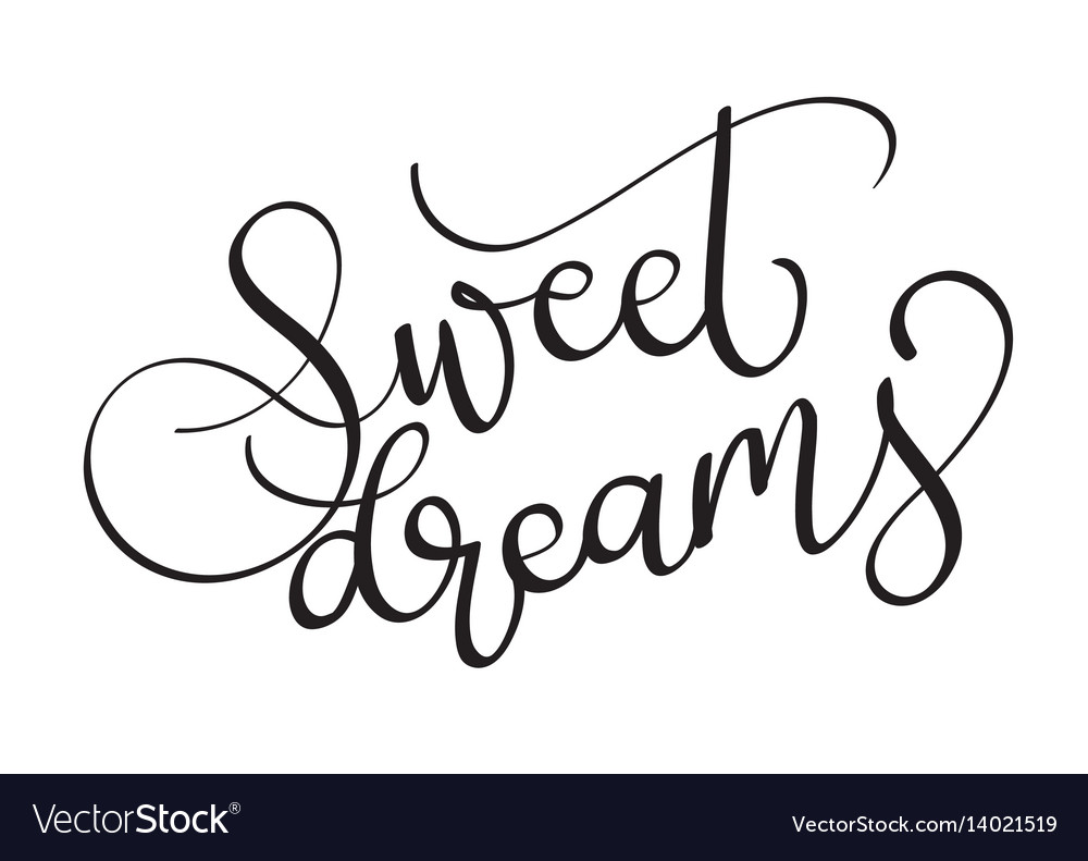 Sweet dreams text on white background vector image