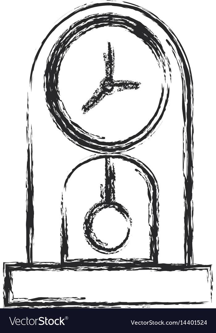Clock time watch pendulum sketch