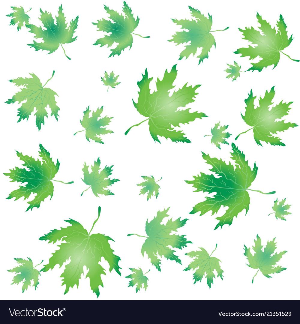 Autumn leaves round label