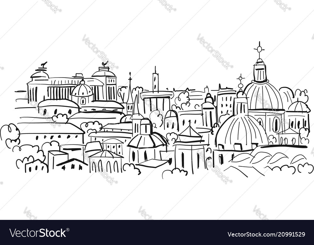 Cityscape background sketch for your design