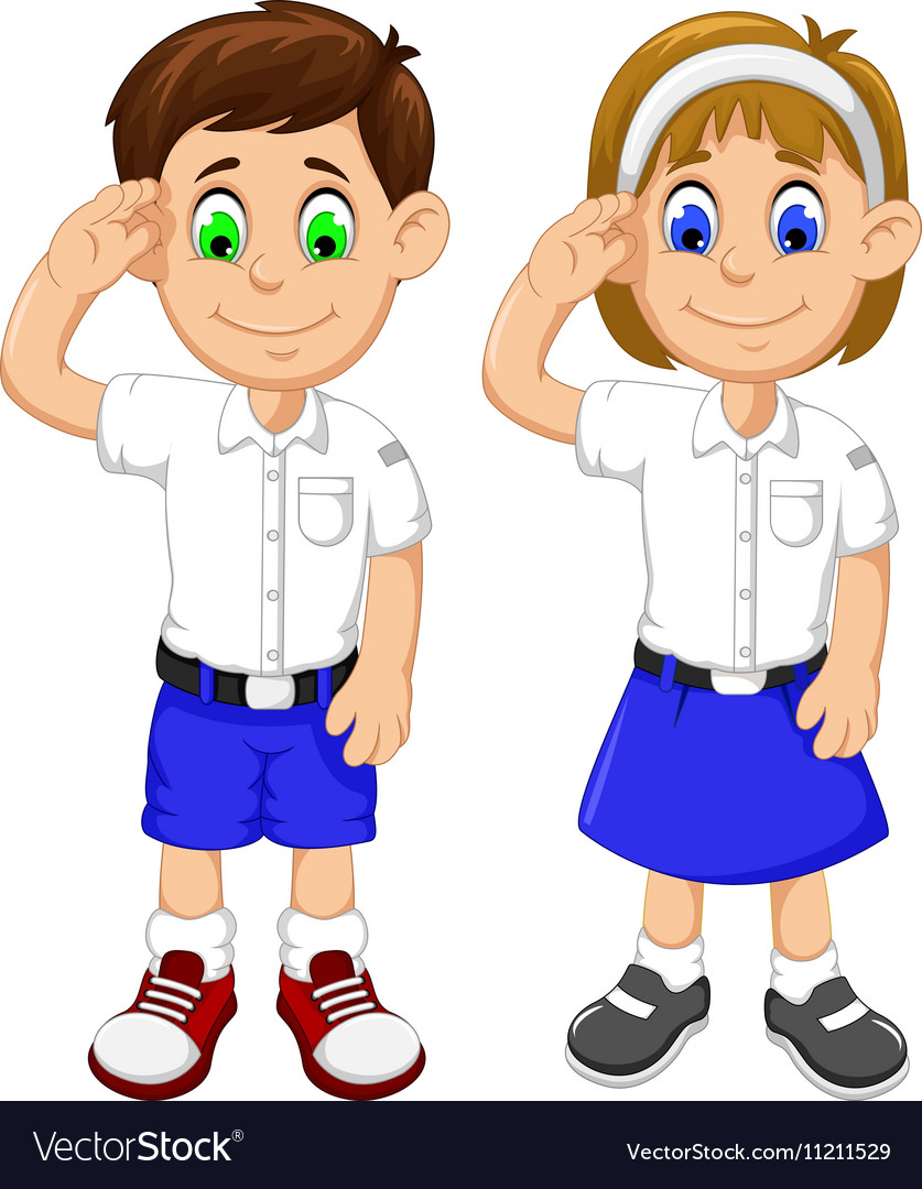 Cartoon student