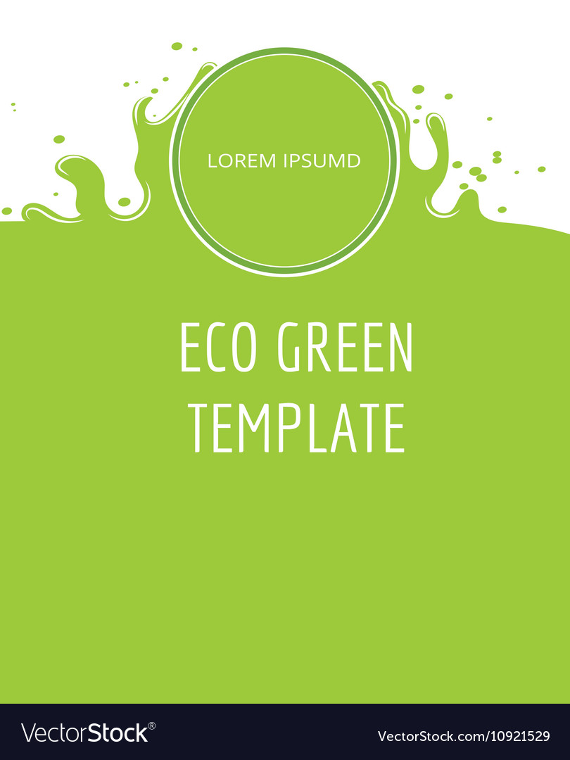 Eco green organic natural background vector image