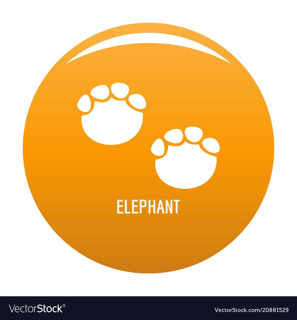 Elephant step icon orange vector image