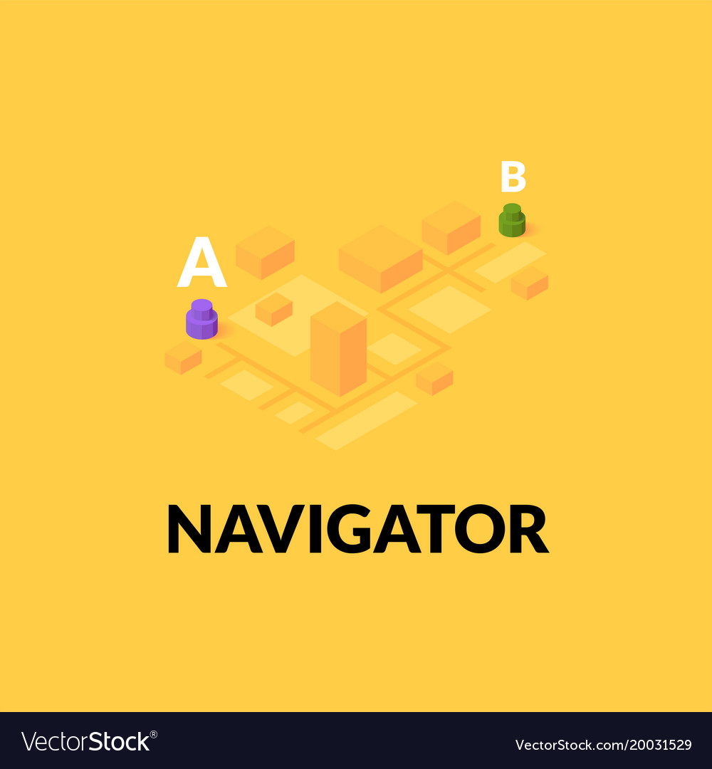Gps navigator street map with flat isometric vector image