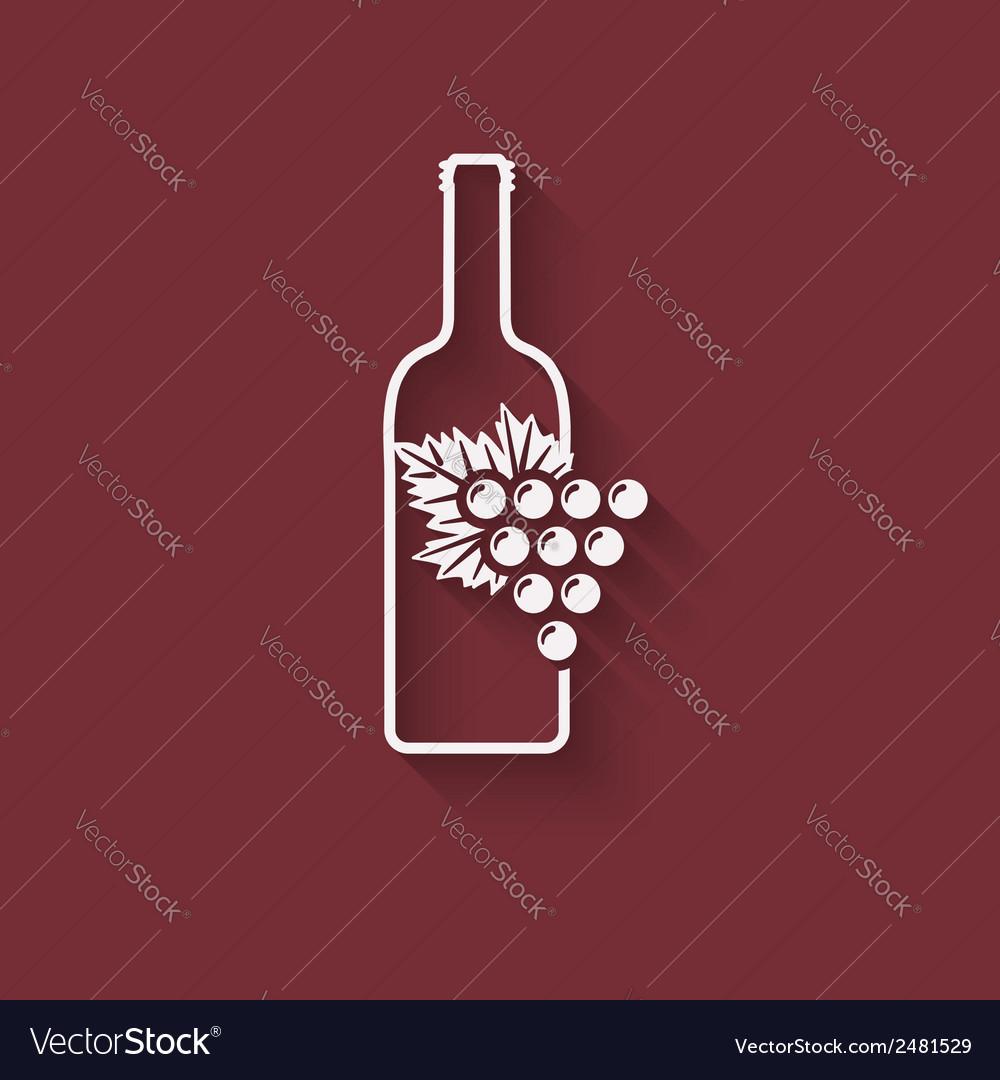 Grapes wine design element