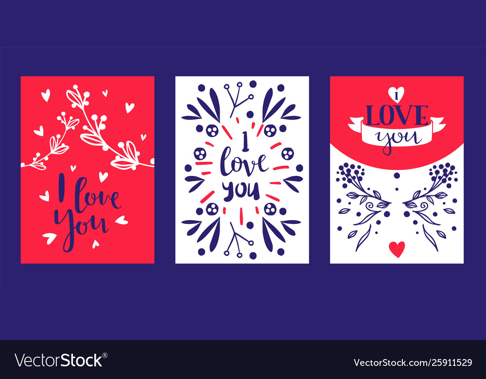 Hand drawn calligraphy text love you