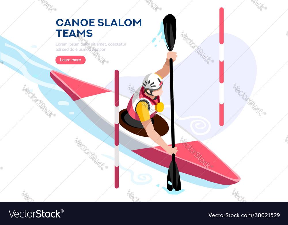 Kayak winning canoe slalom race