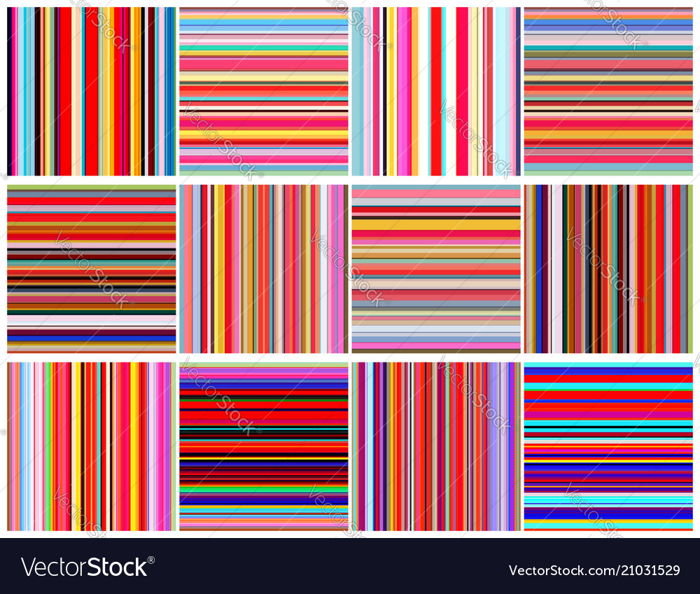 Set of color lines seamless pattern