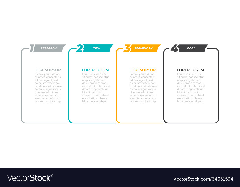 Business infographics template design with linear