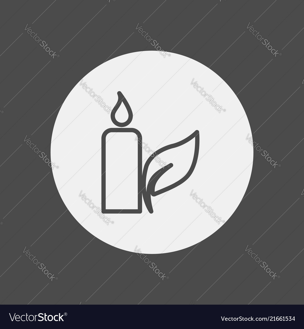 Candle icon sign symbol