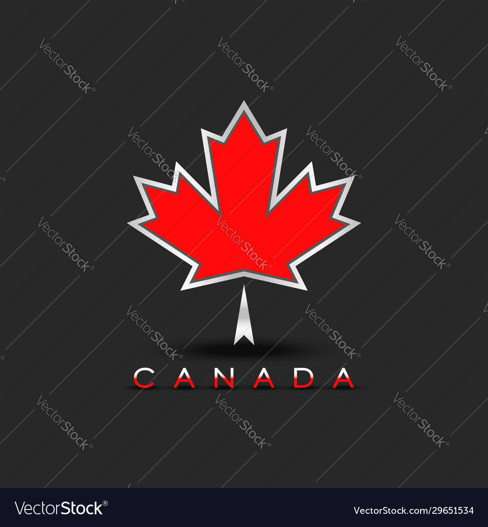 Coat arms canada maple leaf with 3d effect