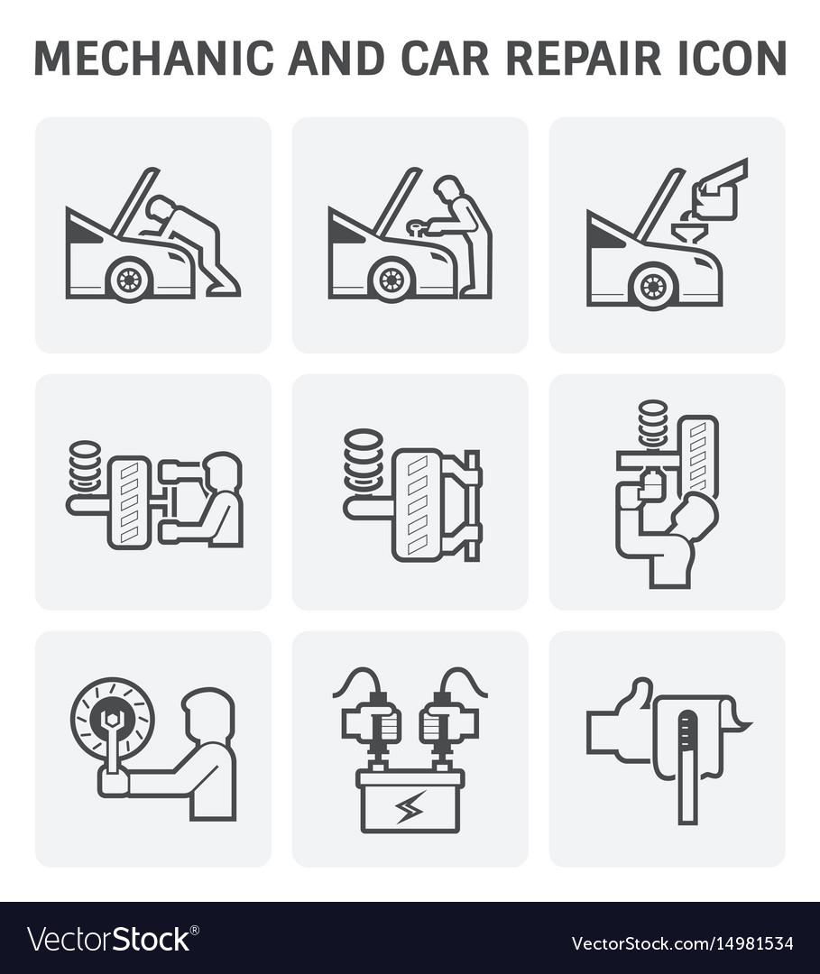 Mechanic car icon