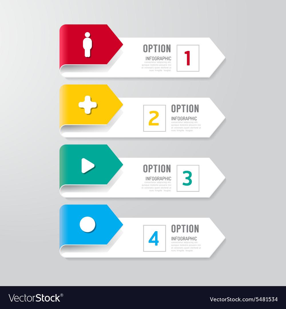 Modern infographics design options banner
