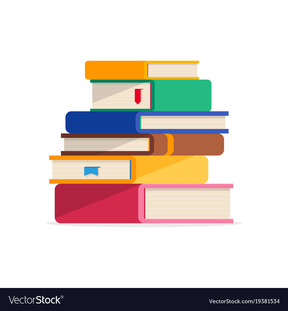pile of books in a flat style isolated royalty free vector rh vectorstock com books victoria books victoria