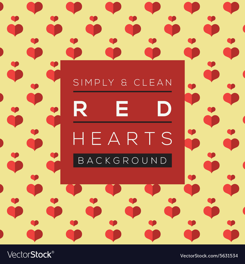 Simple And Clean Red Hearts Background