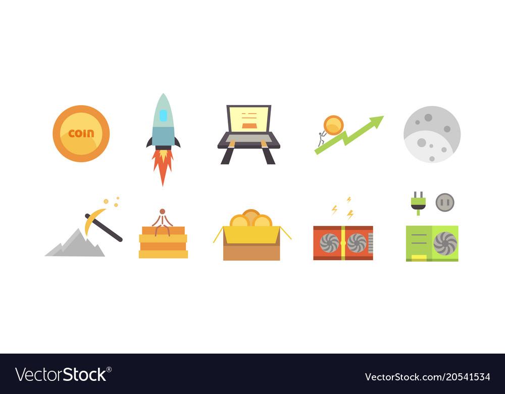 Token ico and blockchain vector image on VectorStock