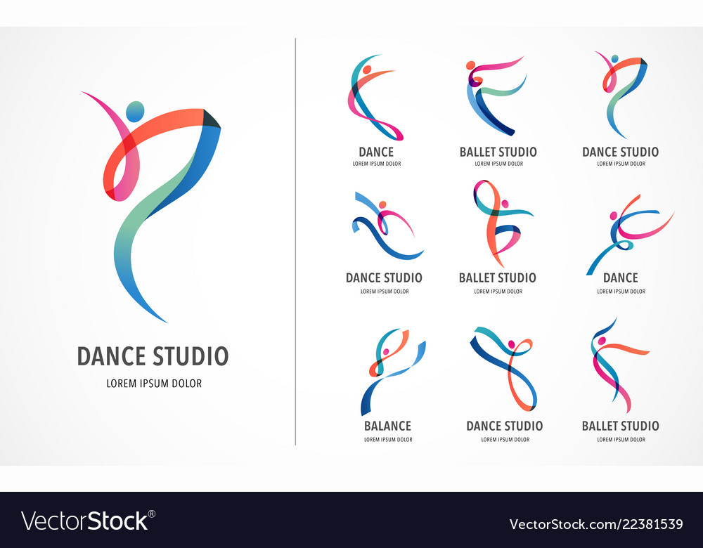 Abstract people logo design gym fitness running