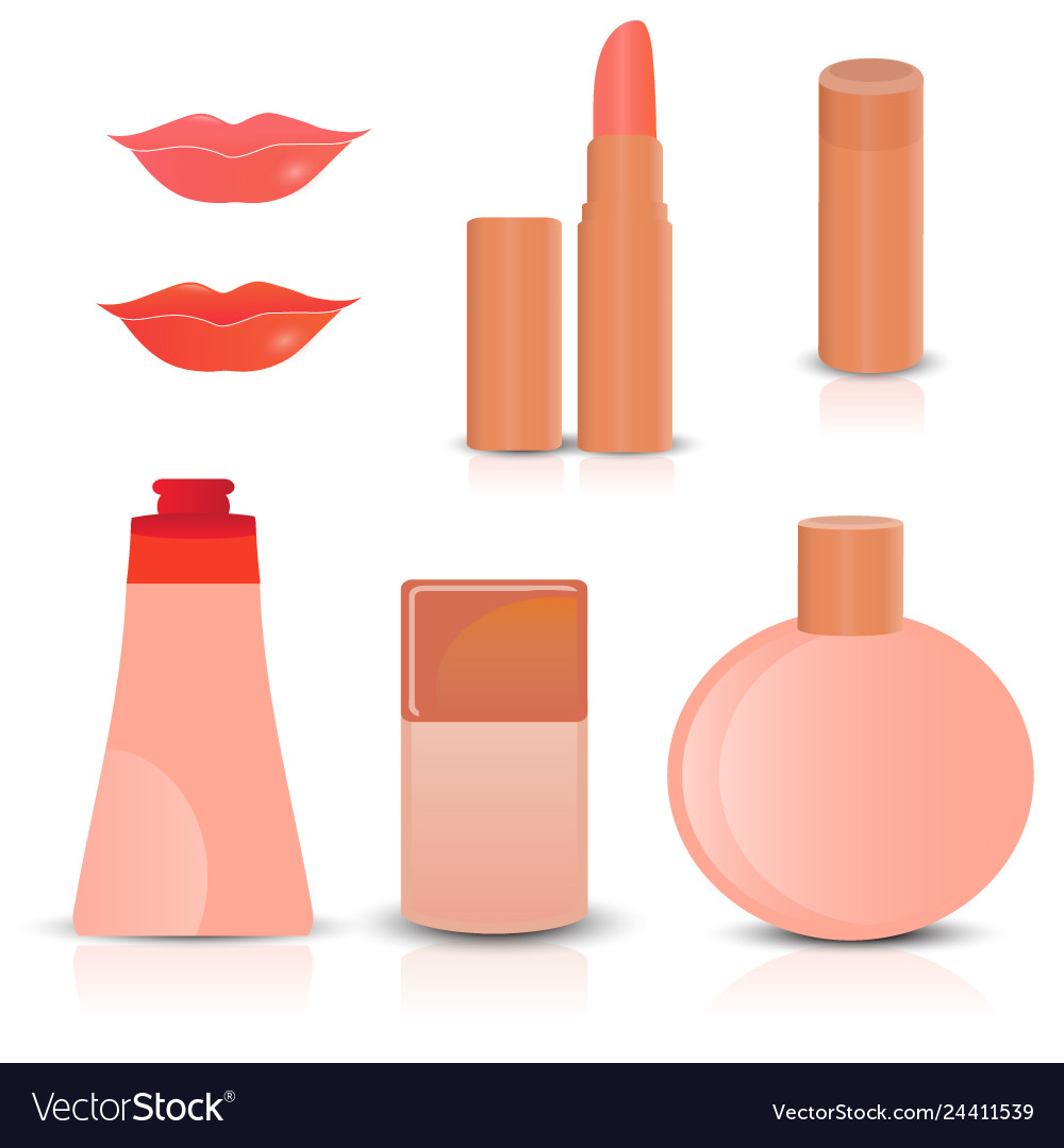 Creative cosmetics and makeup icons