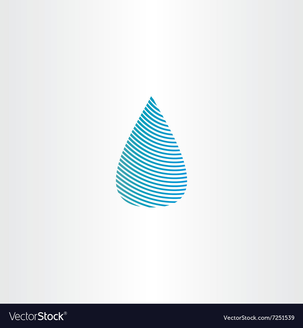 Drop of water blue sign icon