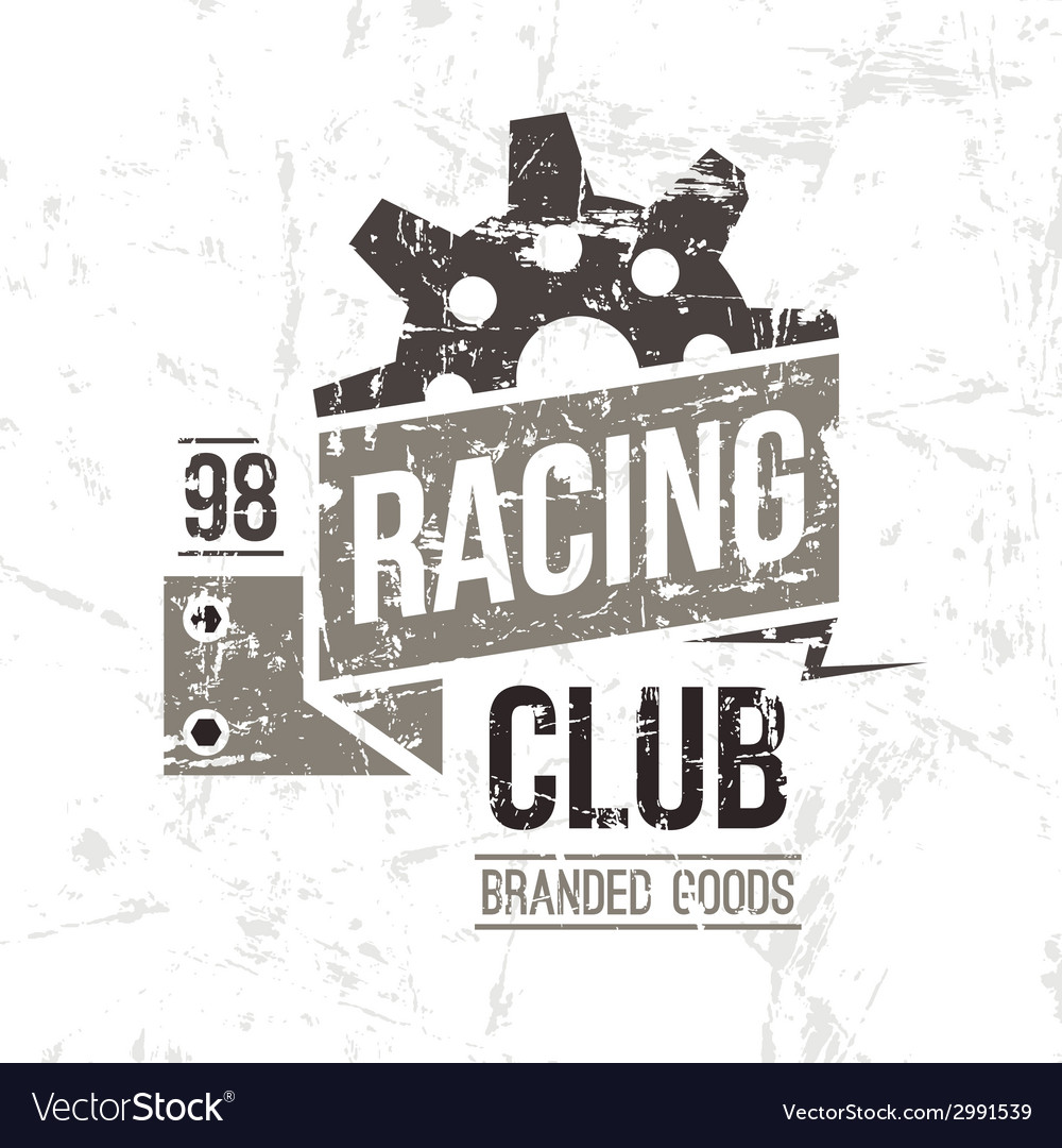 Emblem racing club in retro style